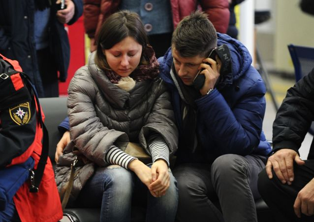 在頓河畔羅斯托夫機場墜毀的波音737-800飛機遇難乘客家屬們