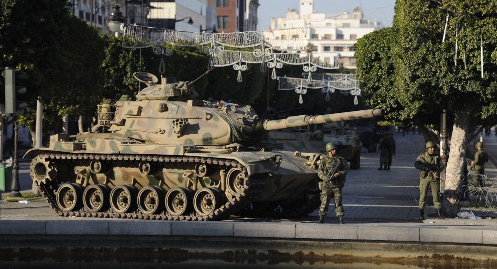 「茉莉花革命」在突尼斯