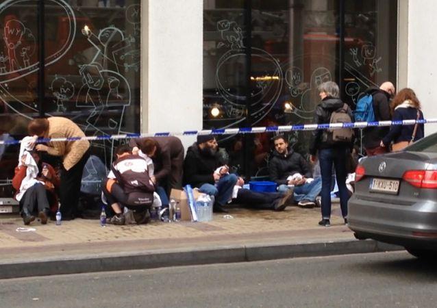 媒體:「伊斯蘭國」宣佈為布魯塞爾的恐怖襲擊事件負責