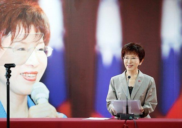 台灣著名政治家洪秀柱成為國民黨歷史上第一位女性黨主席