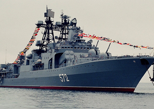 俄太平洋艦隊艦艇中隊從東南亞遠航歸來回到符拉迪沃斯托克