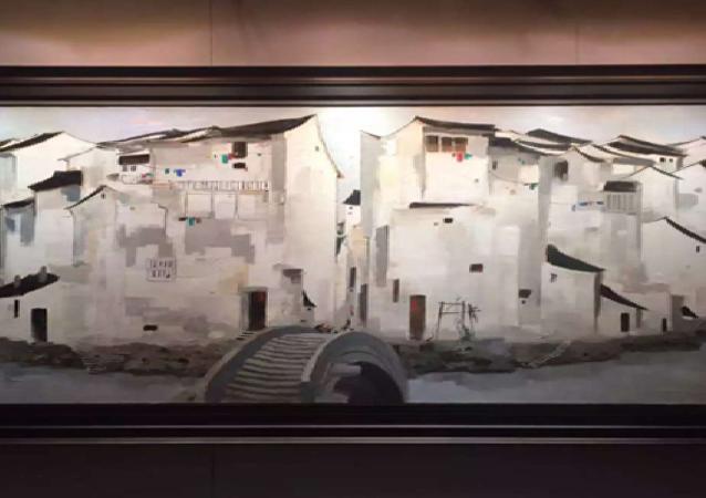 中國著名畫家吳冠中油畫拍出3千萬美元天價