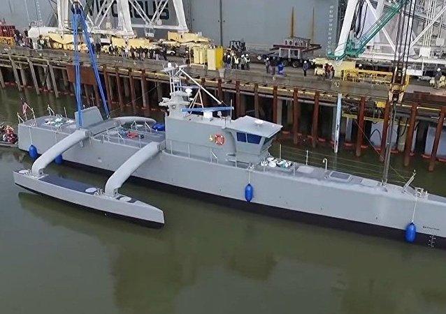 美軍無人駕駛軍艦「海上獵人」號