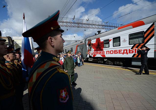「勝利軍」宣傳列車活動在符拉迪沃斯托克圓滿落幕
