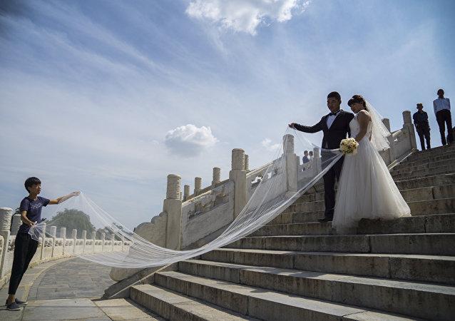 中國一對新婚夫婦