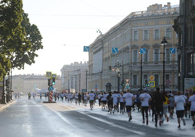 聖彼得堡國際經濟論壇與會者沿市中心奔跑5公里