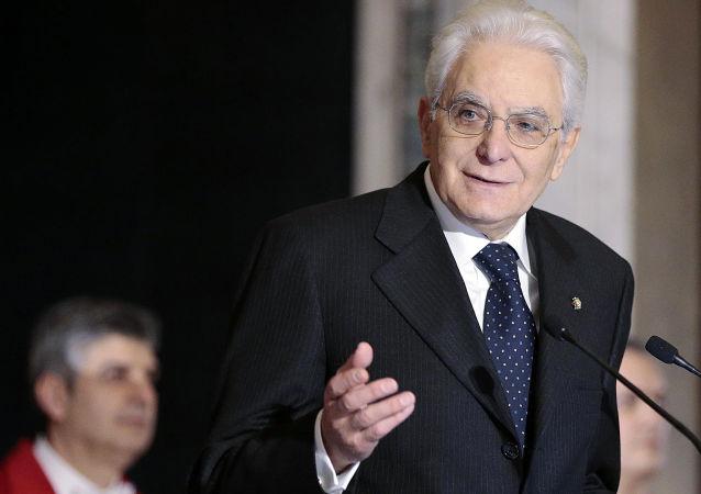 意大利總統塞爾焦•馬塔雷拉