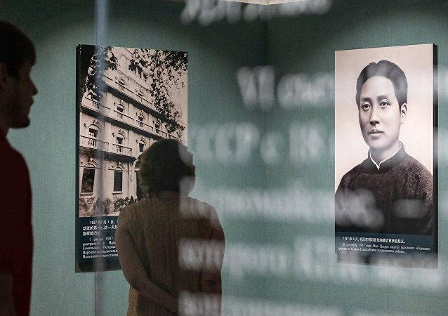 首批中國遊客參觀中共六大會址展覽館