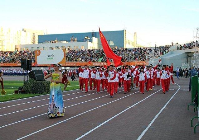 中國運動員: 亞洲兒童國際運動會促進各國家的關係