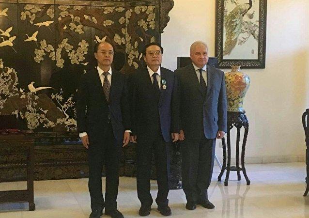 中國國家反恐安全專員程國平程國平被授予俄友誼勳章