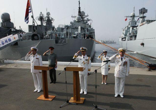 俄中「海上合作」軍事演習進入積極階段