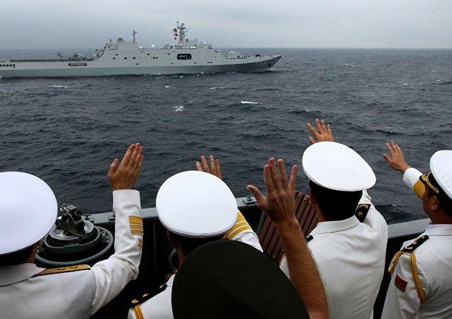 專家:俄中「海上聯合」軍演旨在維護亞太地區穩定