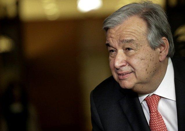 聯合秘書長候選人安東尼奧·古特雷斯