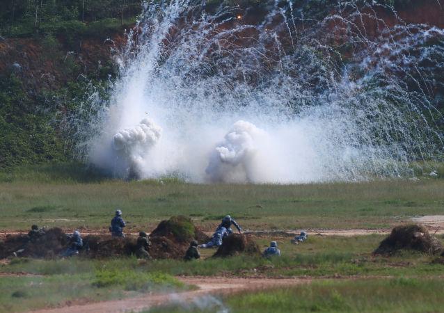 Российско-китайские военные учения Морское взаимодействие-2016 в китайской провинции Гуандун