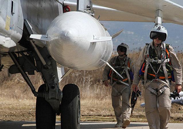 俄軍飛行員在敘利亞