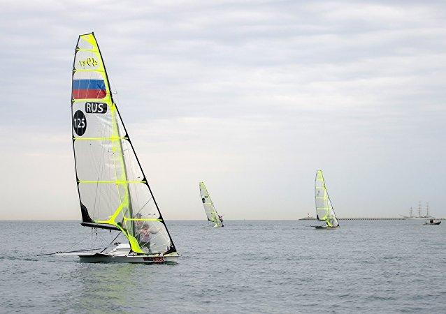 俄運動員在「遠東杯」國際帆船拉力賽中獲勝
