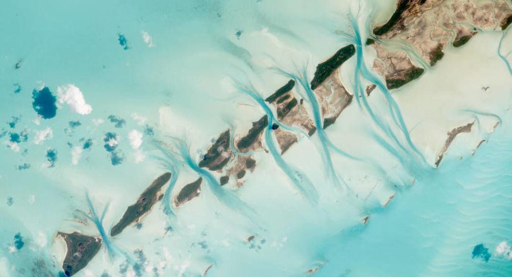 宇航員從國際空間站拍攝的巴哈馬群島