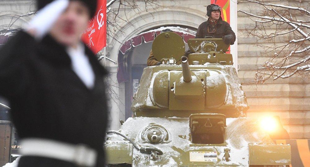 莫斯科舉行閱兵式紀念1941年紅場閱兵75週年