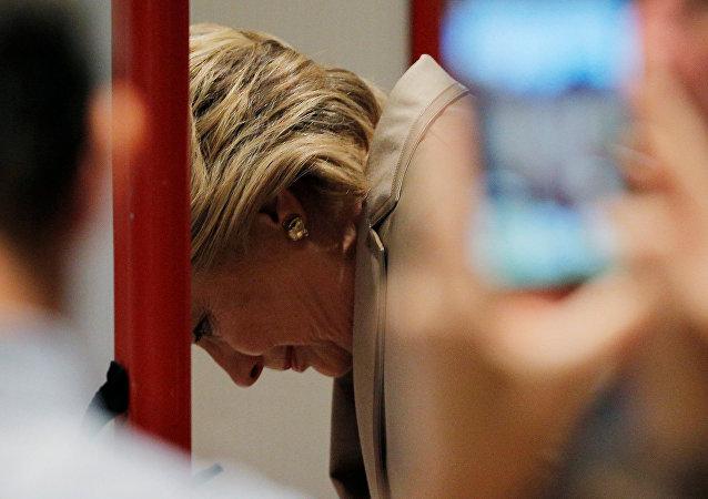希拉里為美國總統大選投票