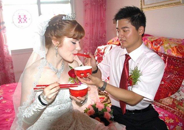 中俄通婚數量越來越多