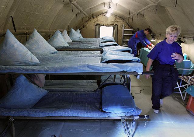 俄緊急情況部醫療隊的空中機動醫院