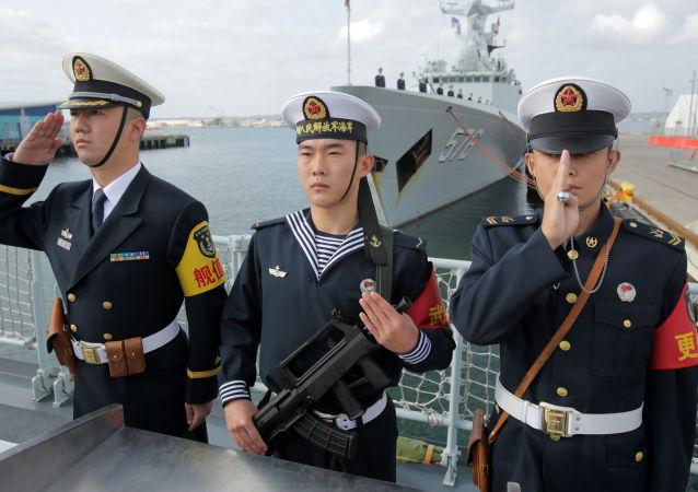 中國水兵在美國