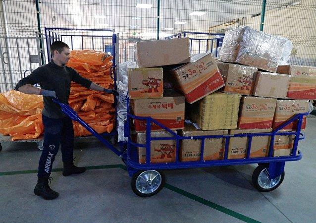 中國郵件佔俄國際郵件總數的份額達到94%