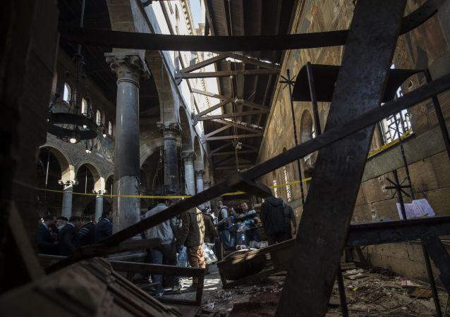 在開羅的一個教堂進行了恐怖襲擊