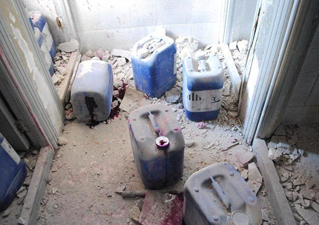 」伊斯蘭國「和」支持陣線「的恐怖分子正在敘利亞和伊拉克使用芥子氣和沙林等化學武器