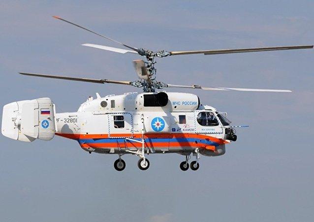 俄緊急情況部的卡-32A11BC直升機