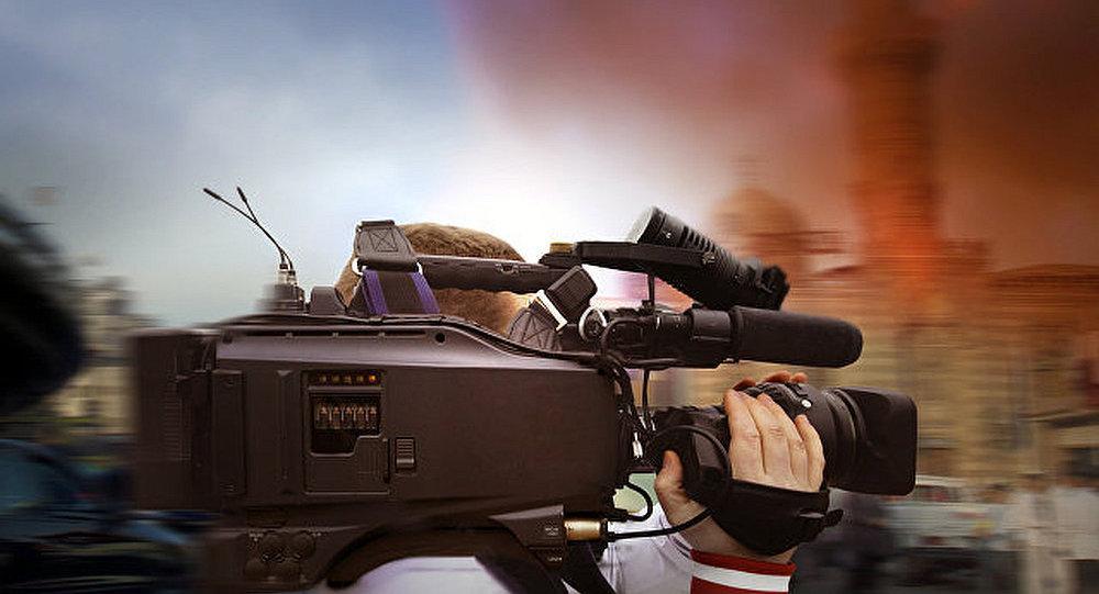 記者在熱點地區