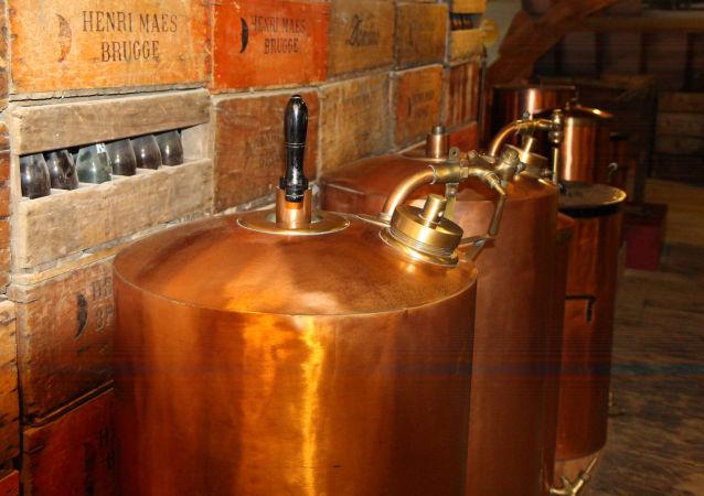 在比利時的半月啤酒廠
