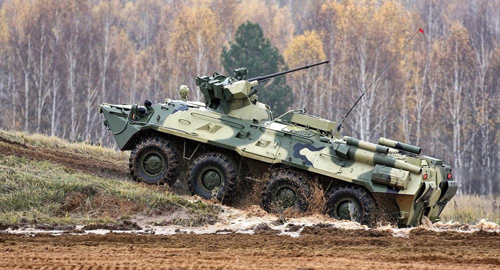 裝甲車被調往格魯吉亞首都郊區開展反恐行動的地區