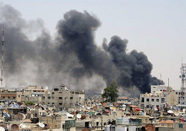 恐怖分子用迫擊炮向大馬士革中心開火