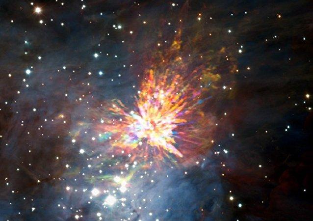 哈勃望遠鏡獲得了「太空新生巨嬰」的照片