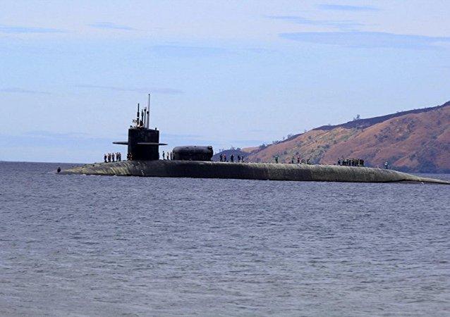 美「密歇根」號核潛艇(圖片資料)