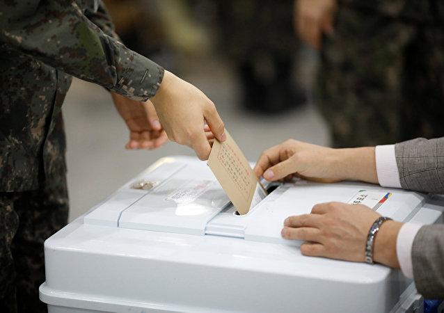 韓國總統選舉投票