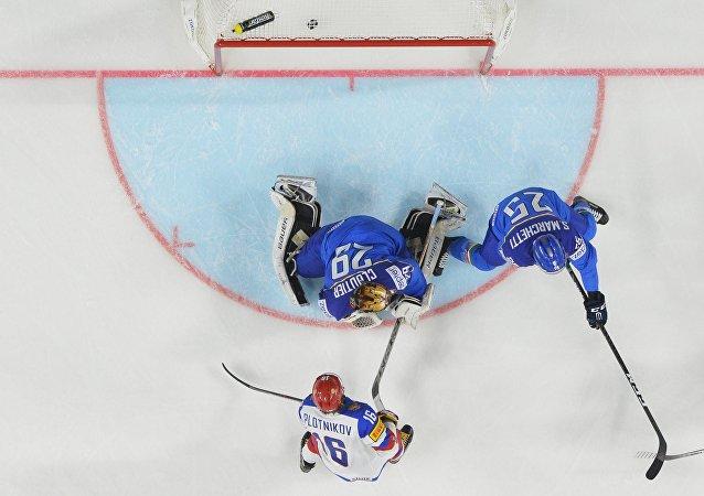俄冰球隊在世錦賽上以10比1狂勝意大利