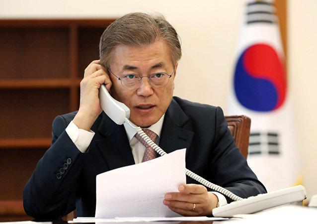 媒體:韓美領導人今晚通電話就金特會進行溝通