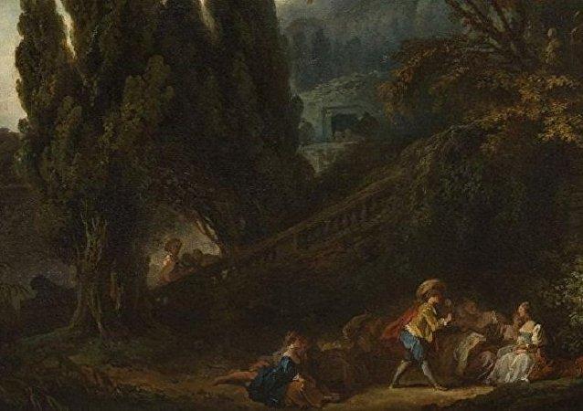法國畫家弗拉戈納爾價值6百萬歐元的畫作在兩百年後被發現
