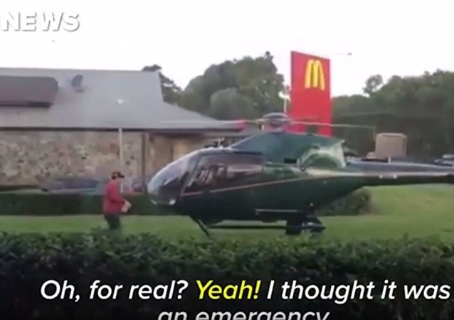 Man Lands Helicopter At A Sydney McDonald's To Collect Order