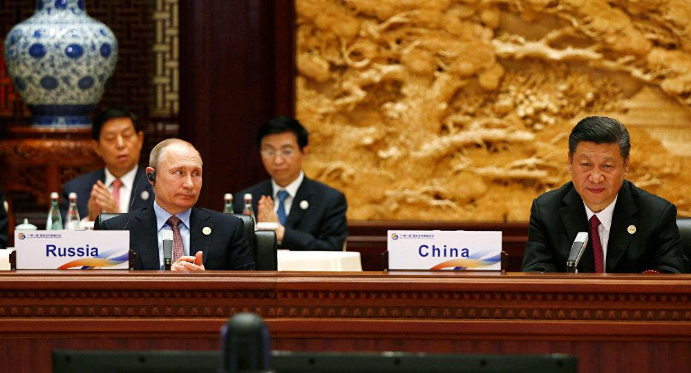 俄羅斯總統普京和中國國家主席習近平出席第一屆「一帶一路」國際合作高峰論壇 (資料圖片)