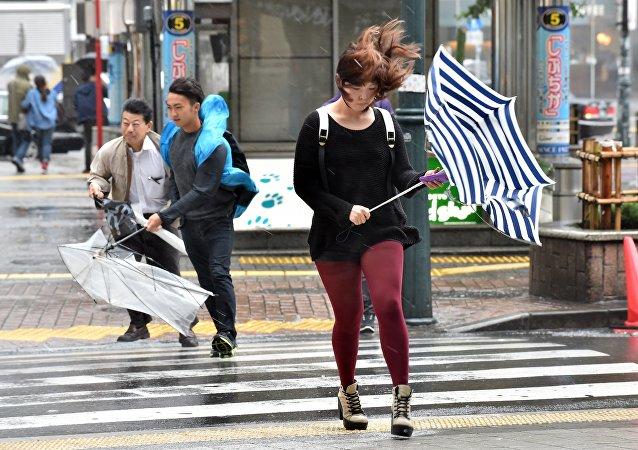 日本暴雨(資料圖片)