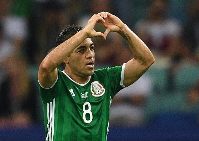 墨西哥前鋒法比安對德國隊的進球被評為2017年聯合會杯最佳進球