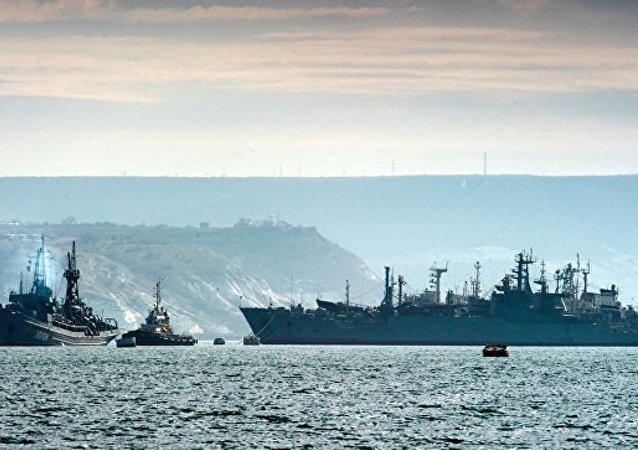 在克里米亞開始了對黑海艦隊的戰備檢查