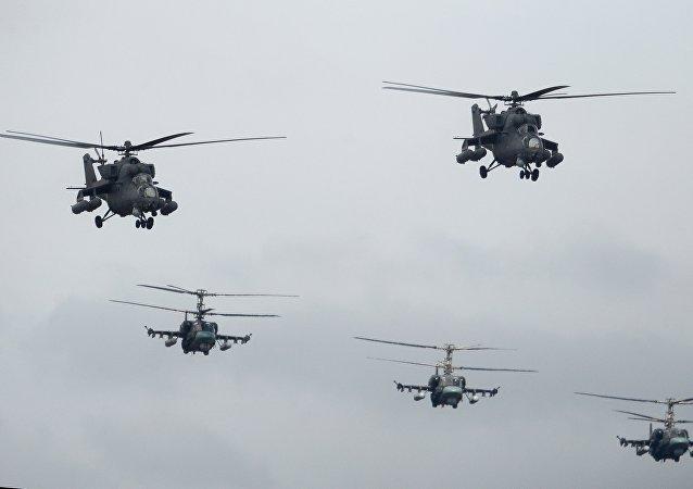 卡-52和米-35直升機