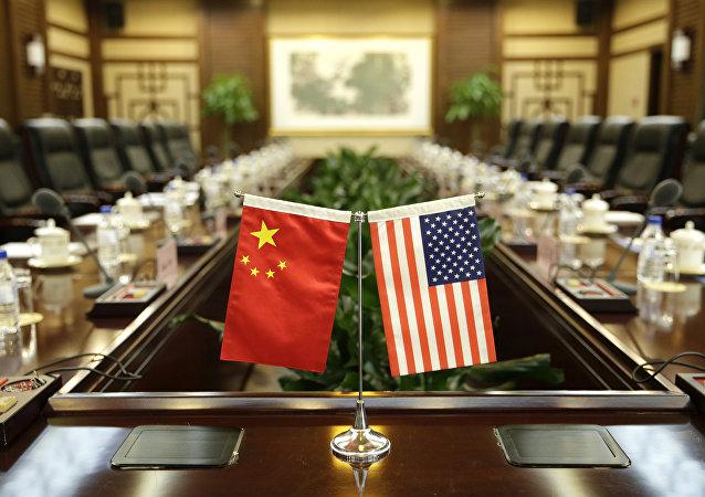 中國、美國國旗