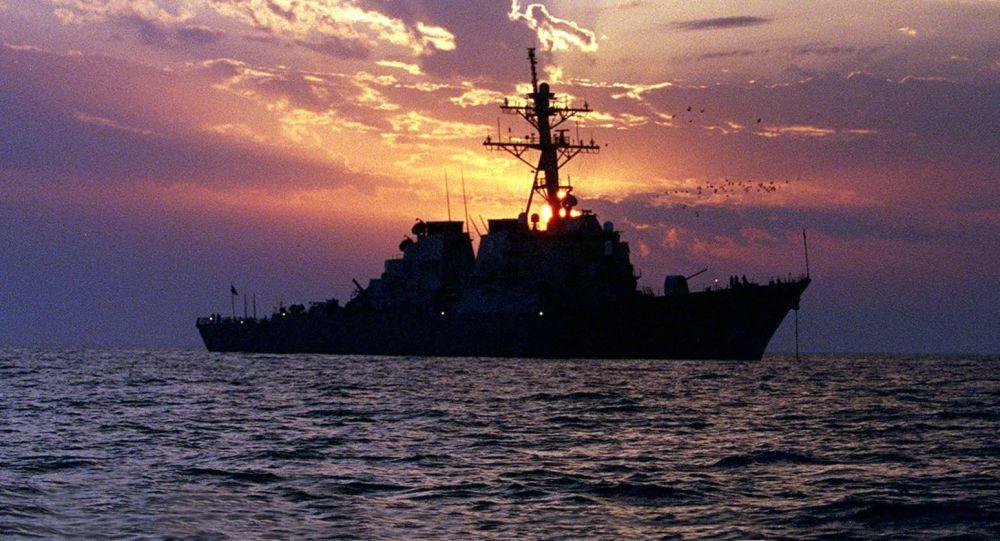 美國海軍艦在波斯灣 (資料圖片)