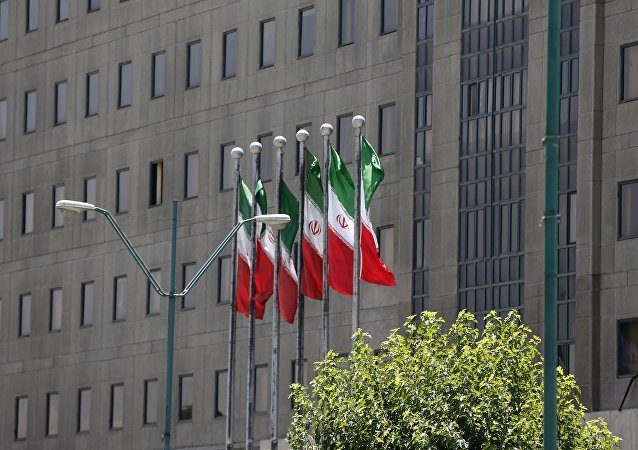 A picture shows a general view of Iranian the parliament building in Tehran