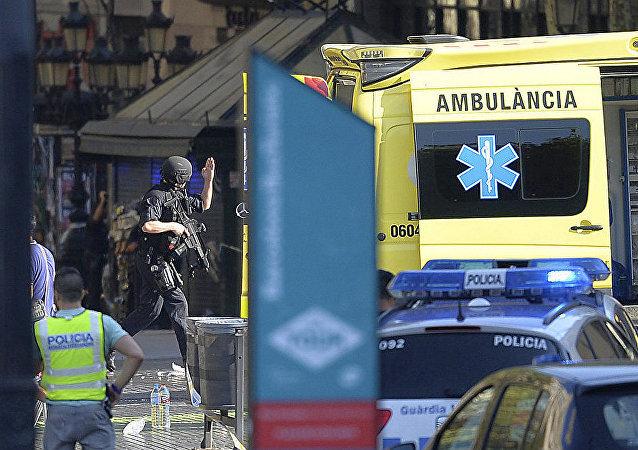 西班牙巴塞羅那衝突造成20多人受傷